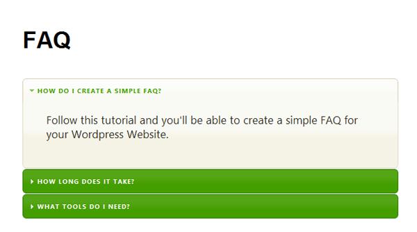 利用 jQuery UI 在 WordPress 創建一個 FAQ 模塊