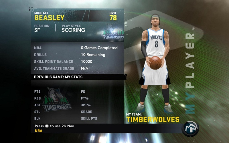 Michael Beasley My Player Patches for NBA 2K11